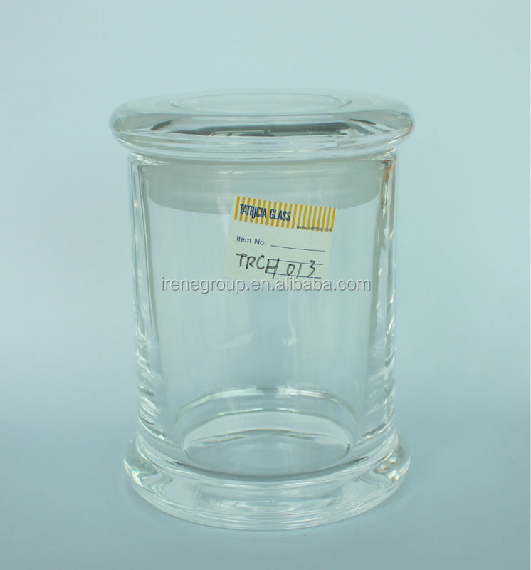 fire polished clear glass candle jars