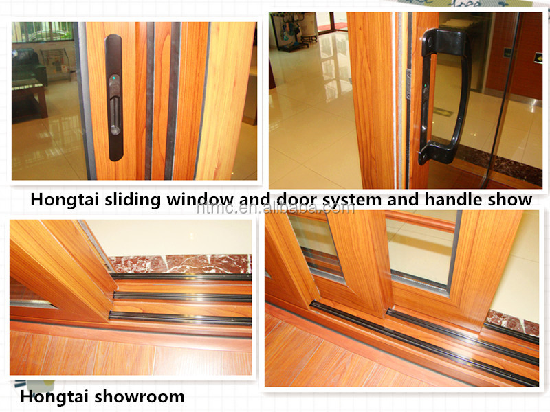 Latest design aluminum glass sliding windows and doors with built in auto blinds