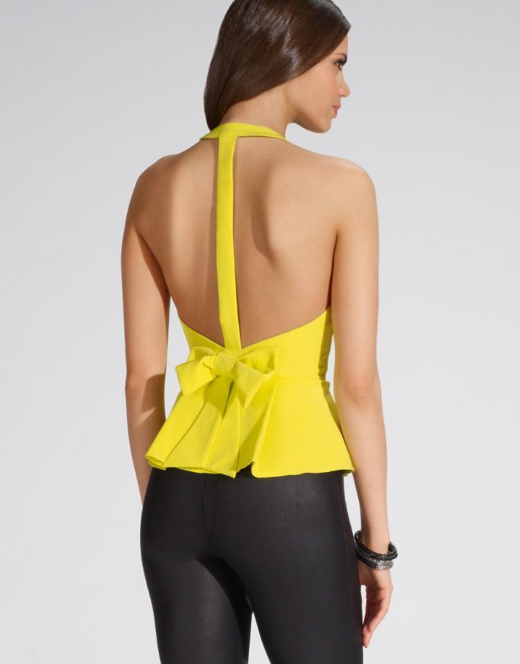 Neon Halter Neck Top Designer Blouse 2014 Womens Top Plus