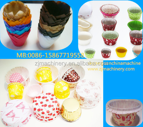 Cake cup with curling machine