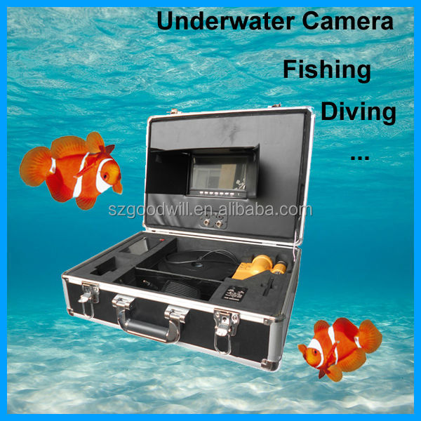"color underwater camera with 7"" lcd display smart collective packing swimming diving underwater monitor system"