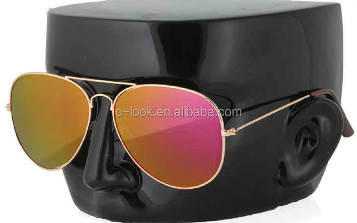 Mens Womens Classic Aviator Mirror lens Vintage Pilot Sunglasses