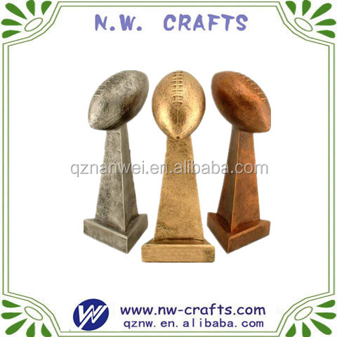 Lombardi Style Fantasy Football Resin Trophies