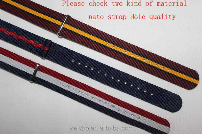 24mm Nylon strap Military Diver Watch Strap Band PVD Bond orange nato strap