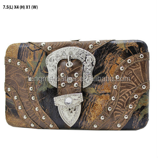 CAMO WESTERN COWGIRL BLING CRYSTAL CROSS RHINESTONE WALLET BAG