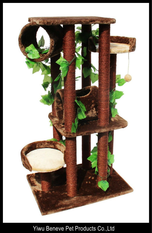 brown leaf cat tree big cat house tower cat condo