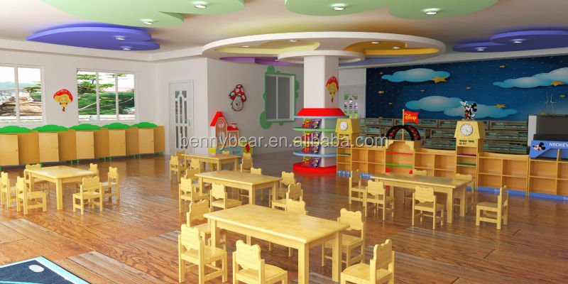 Nursery School Furniture Kids Classroom wooden Furniture Set Professional Manufacturers