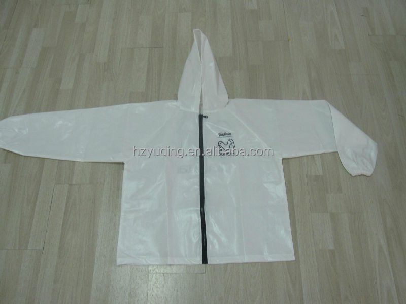 emergency Waterproof PVC nylon hooded surf Rainsuit For Adult
