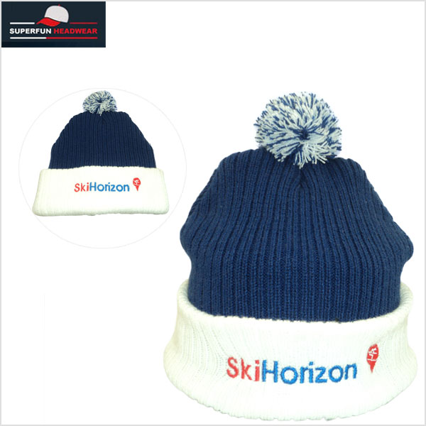 factory supply patch logo cotton balls knit cap