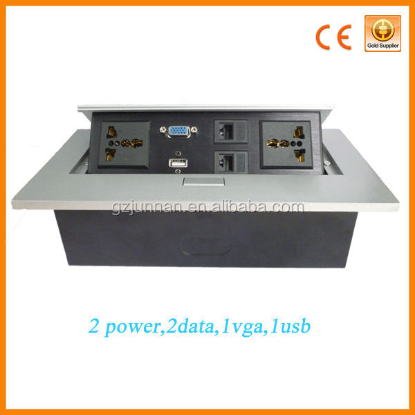 Hot sale male and female desktop power socket in alibaba