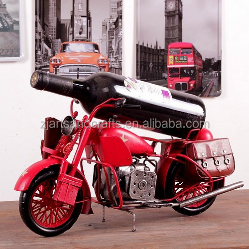Tinplate handmade metal motorcycle model for cafe bar decoration