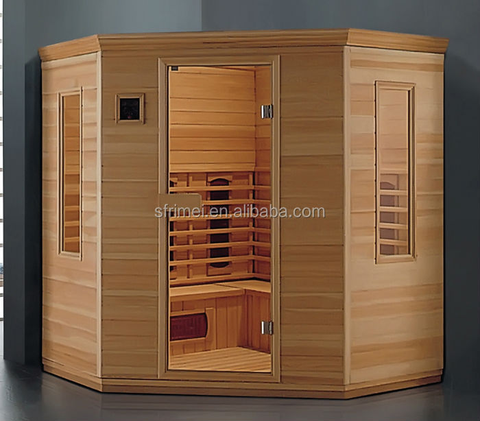 Traditional Sauna room with Sauna stove with digital controller