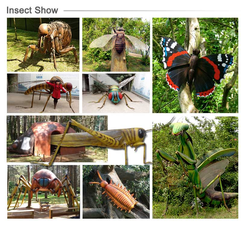 Insect Park Huge Size Animatronic Butterfly Model