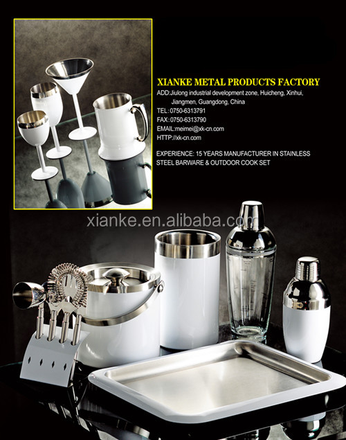 High quality Premium Stainless Steel ice bucket set