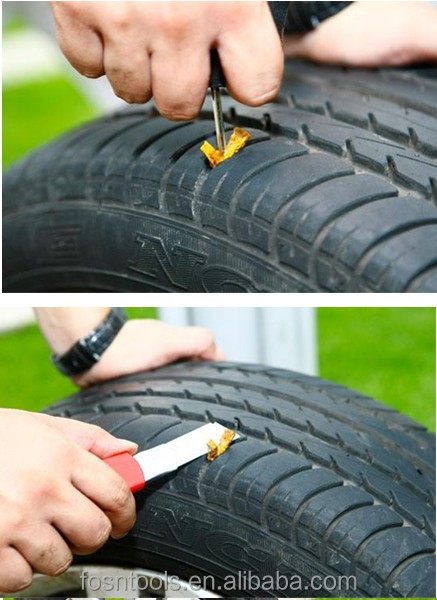 FS2318 New Brand Emergency Tubeless Tyre Puncture Repair Kit motorbikes mtn bike