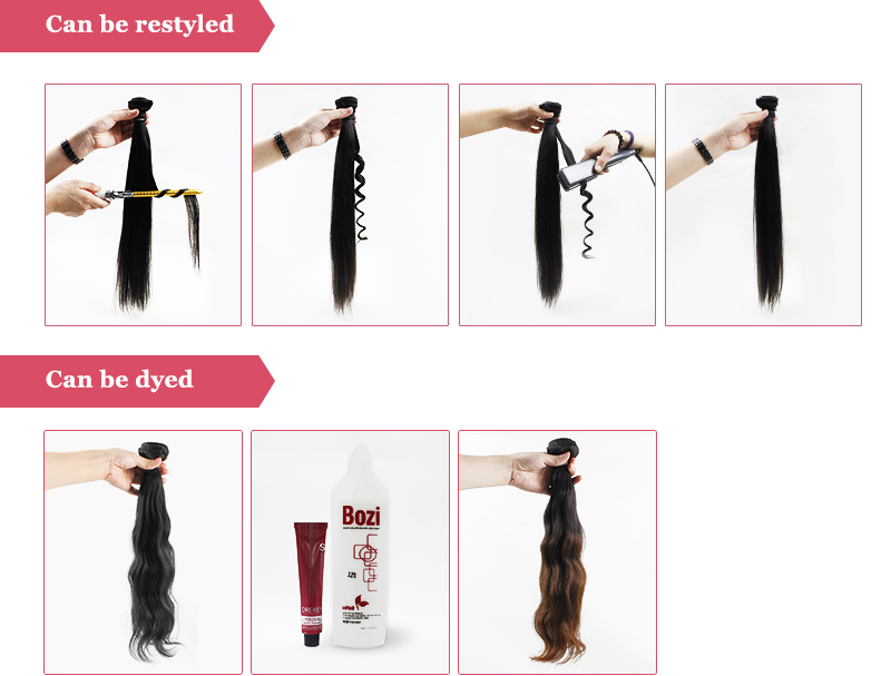 Full Ends Virgin Brazilian Straight Human Hair Double Drawn Remy Hair Weft