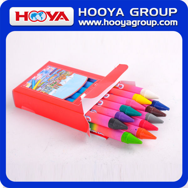 12pcs wholesale cheap stationery Kids multicolor promotion wax Crayon