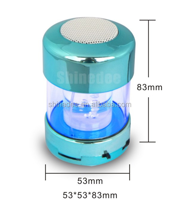 for promotion,portable,with colorful light,TF/FM/USB,small card speaker