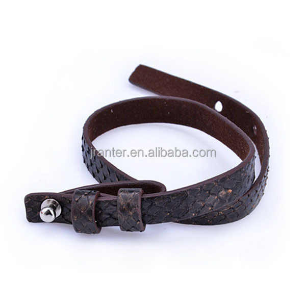 Real Python Leather Men/Women Bracelet