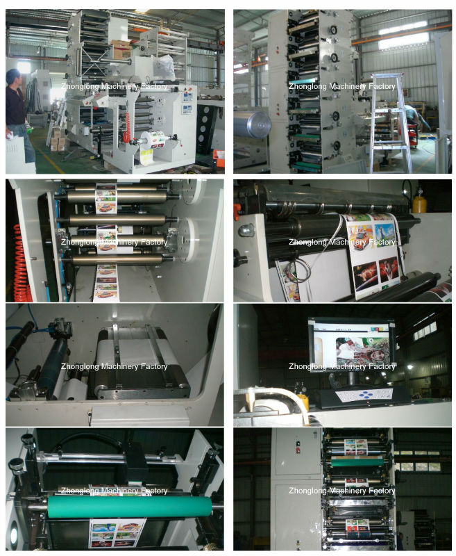 Adhesive paper label flexo printing machine