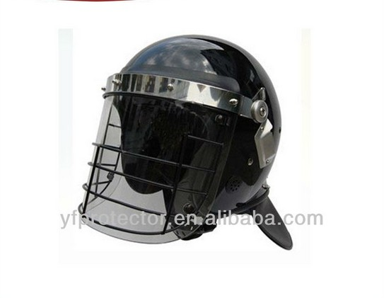 Anti riot helmet/riot control police&military round police riot shield
