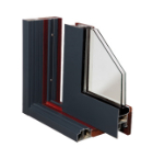high quality lowes glass aluminum clad wood frame door made in china