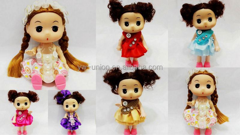 Cute mini vinyl dolls winter style ddgir,fashionable american baby doll