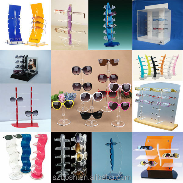 Hot sale good quality clear acrylic eyewear sunglasses display drawer with sunglasses dispaly for sale