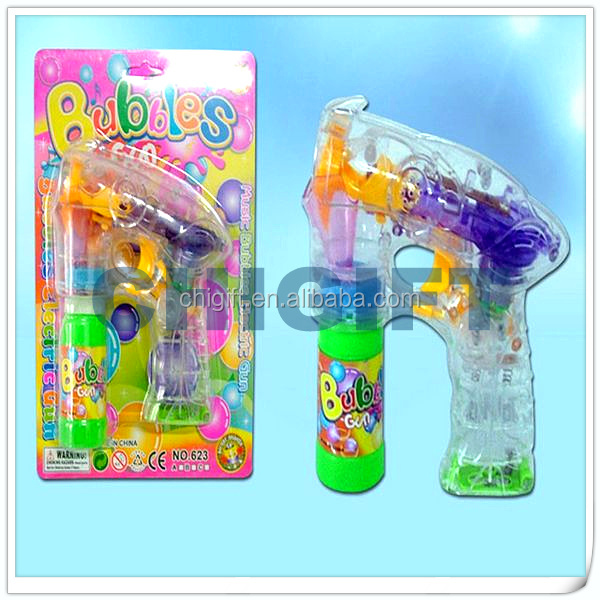 NEW Blister Card Toys Colorful Bubble Gun