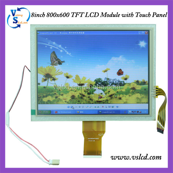 8'' 800x600 4:3 ratio high resolution tft lcd module with touch screen
