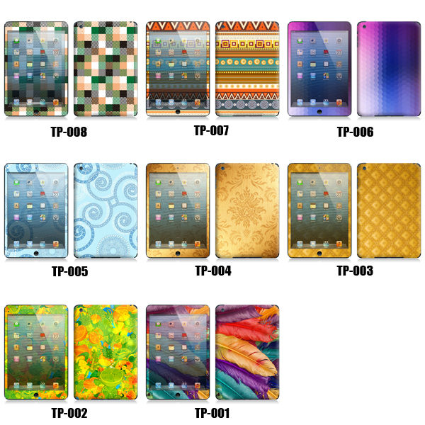 Colorful Front And Back Vinyl Sticker For Ipad Mini Buy Body Vinyl Skin Sticker Protective