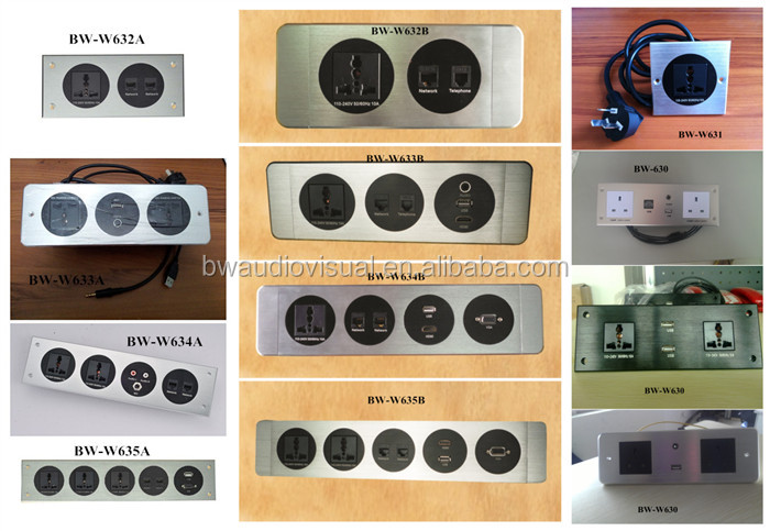 Advanced Electrical Wall Outlet / Hotel Multi Mediahub