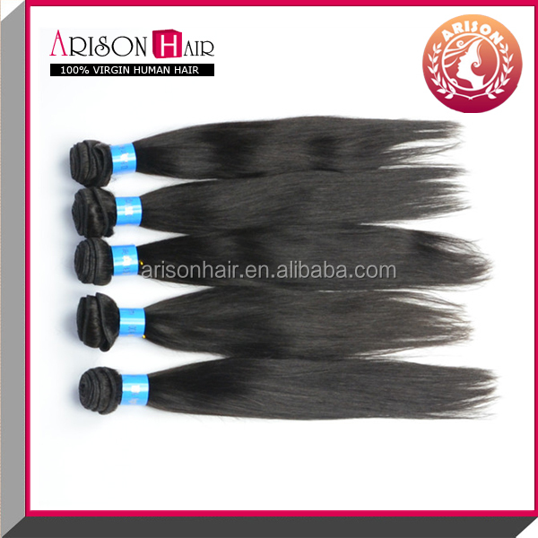 silky straight virgin human hair extensions