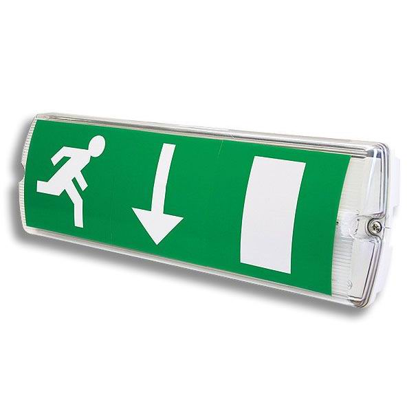 ET-100 UL listed LED rechargeable 2 sided exit sign