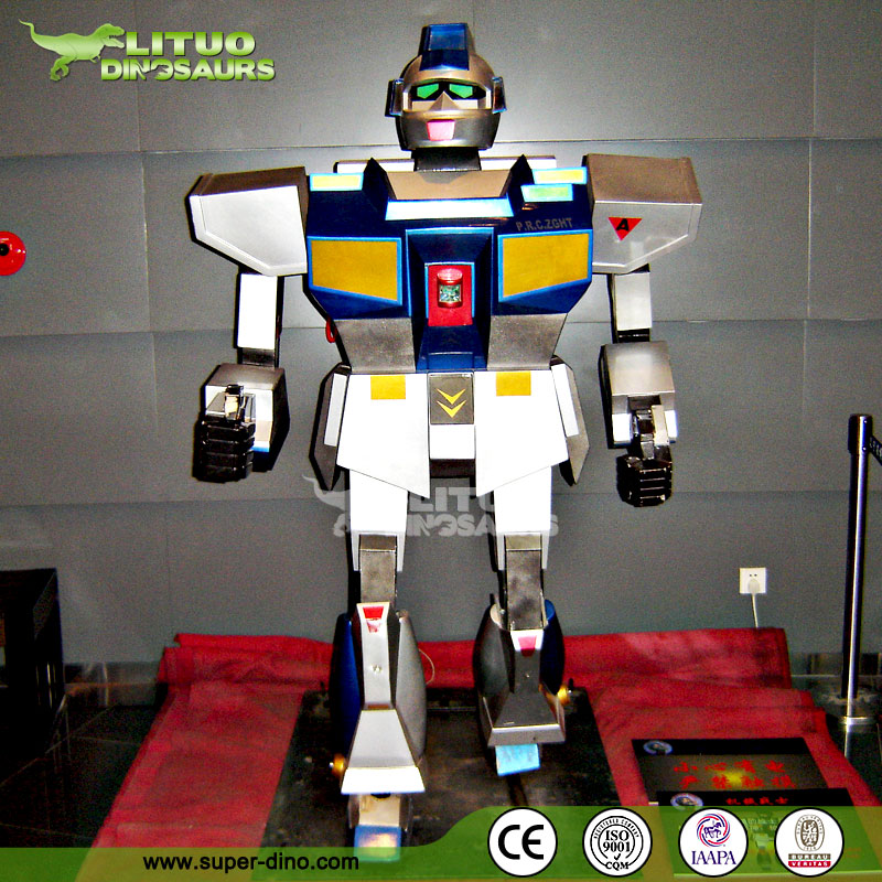 Electric Interactive Robot Band Figures for Children Theme Park Decoration