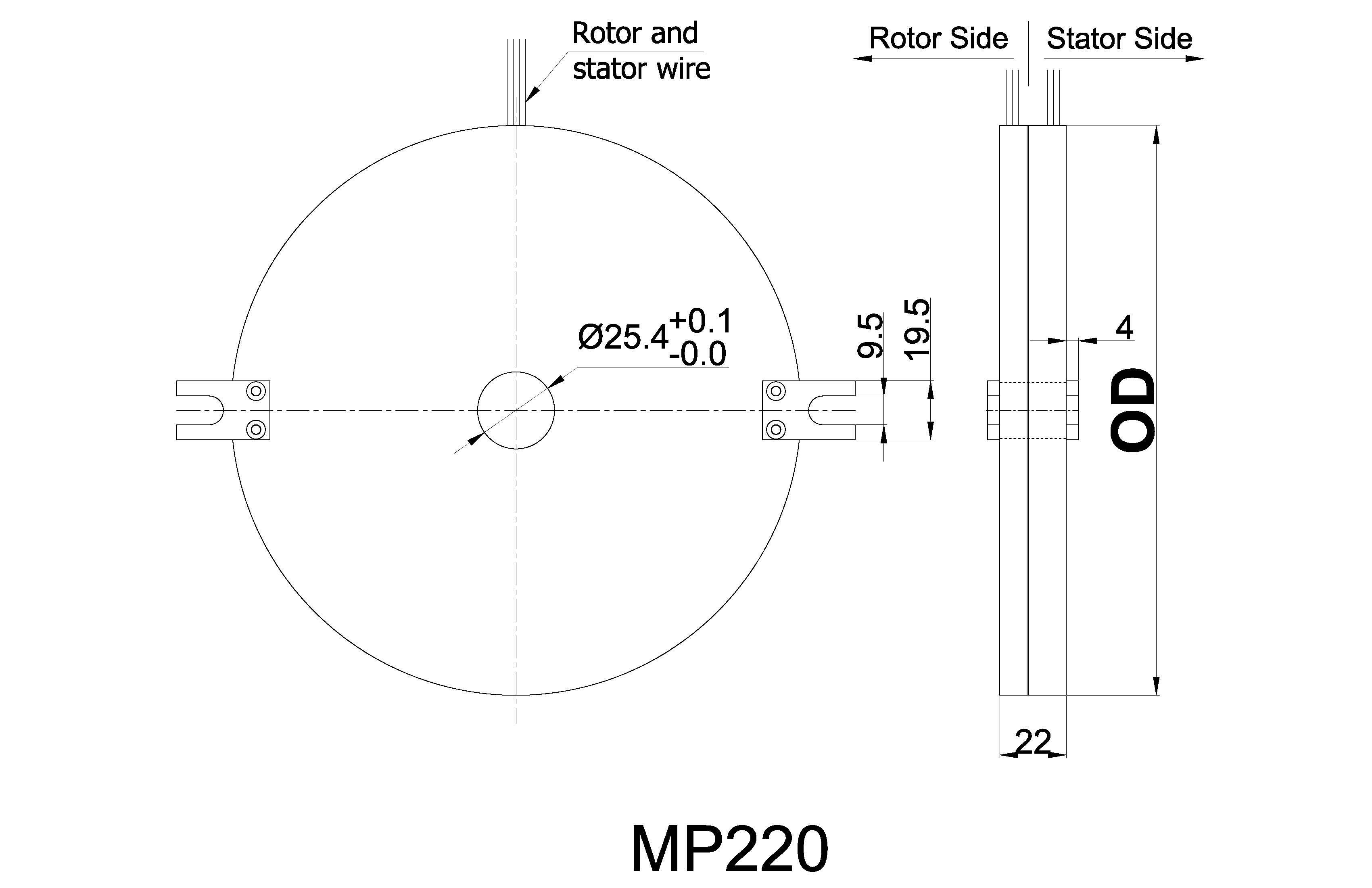 mp100 series pancake slip ring from moflon