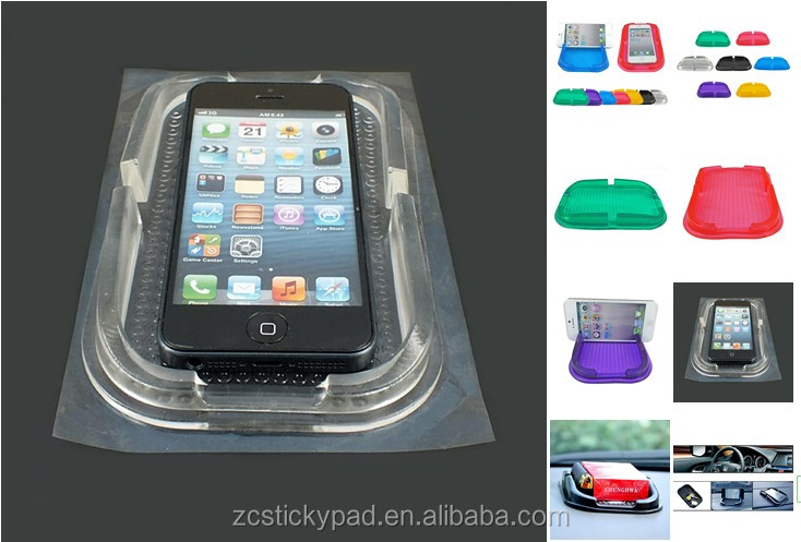2016 New Factory In China Meet RHOS acessories car PU Gel Sticky Car Phone Holder