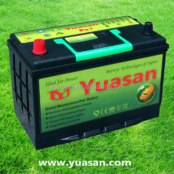 Yuasan Newest Lead Acid Sealed MF Battery for Cars-12V75AH-N70ZMF