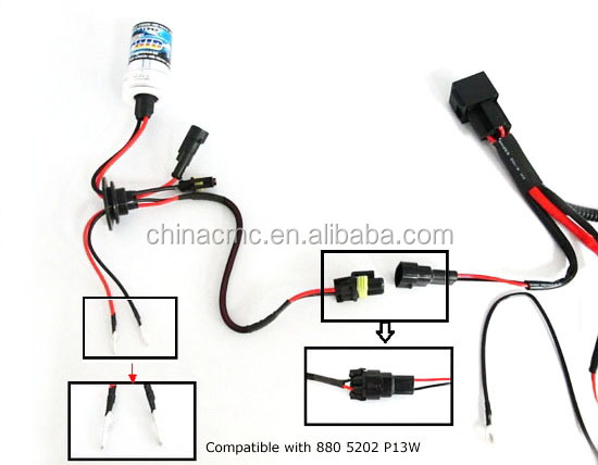 h3 h4 h7 h11 9005 9006 hid conversion kit relay wire