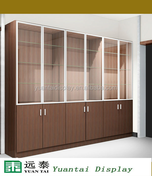 Top cosmetic display design showcase wall cabinet retail for Wall hanging showcase designs