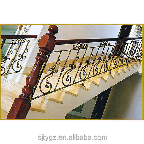 Hot sales simple design wrought iron stair railing