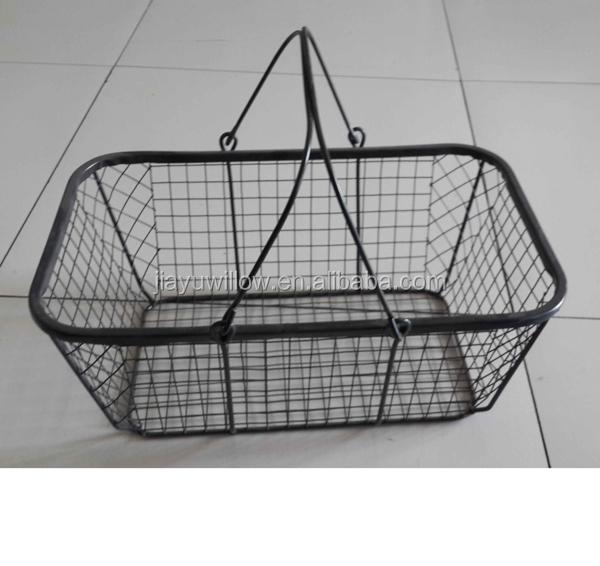 Hanging Storage Baskets Stainless Steel Wire Mesh Baskets