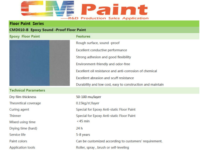 Stone Hard Sound proof Epoxy Resin Car Parking Floor Paint car parking floor paint ,epoxy floor paint ,anti-compression