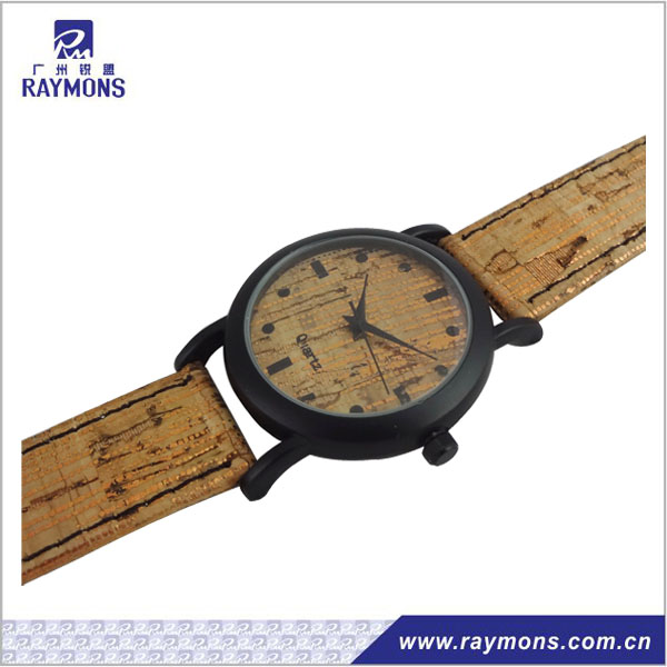 Wooden style PU band factory direct fashion watch