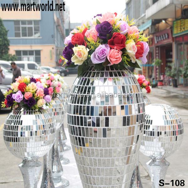 Hot Sale Roman Pillar Mirror Glass Pillar For Saledecorative Wedding Pillars For Wedding