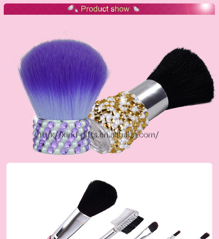 Bling Bling Crystal private label printing makeup brush