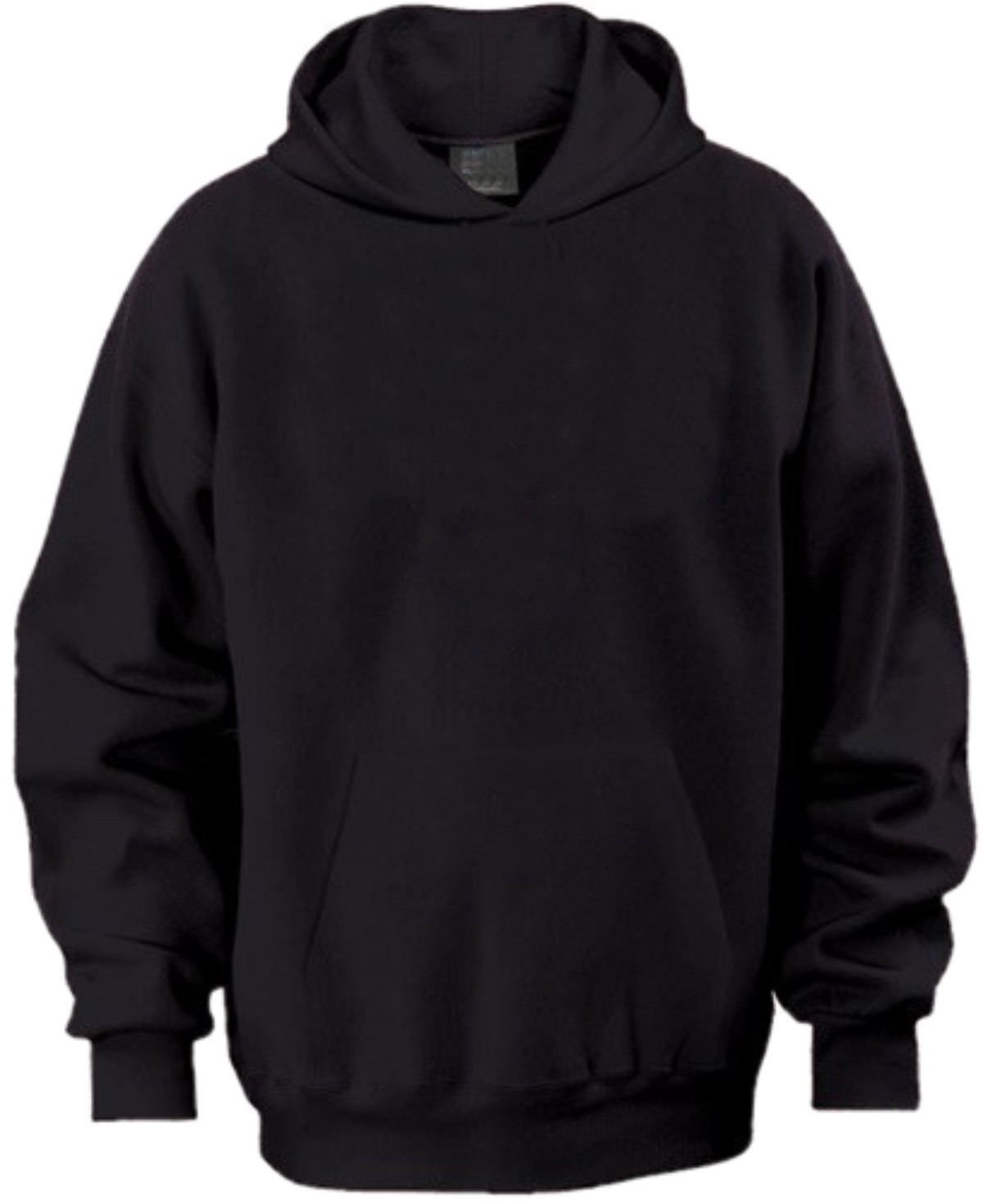 Black sweatshirt template back