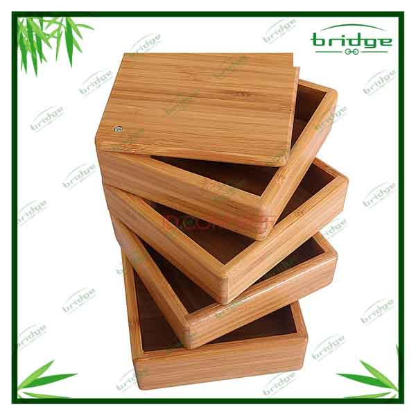 hot sale Nature bamboo wooden simply rotating kitchen accessories spice jar sets