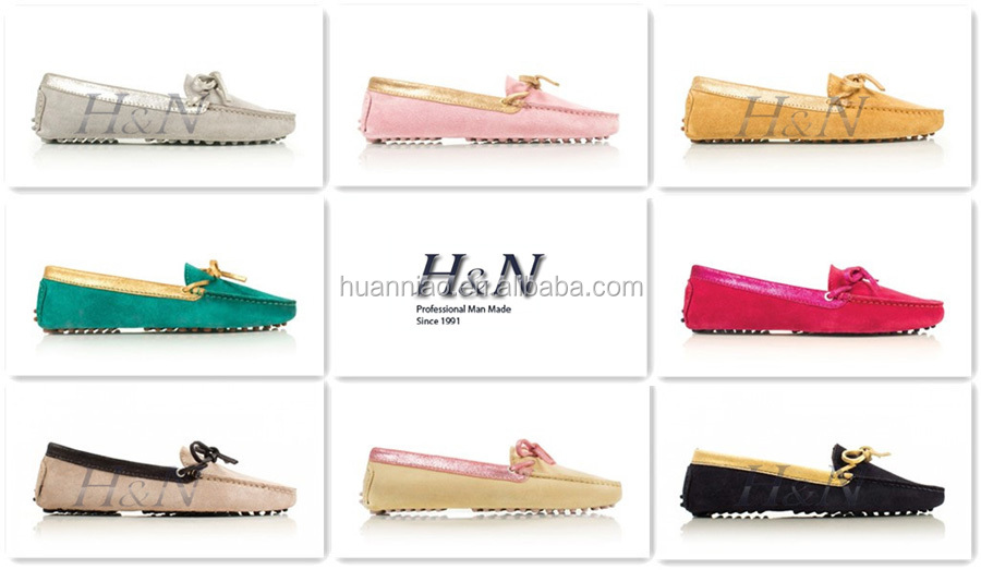 2017 women leather loafers moccasin
