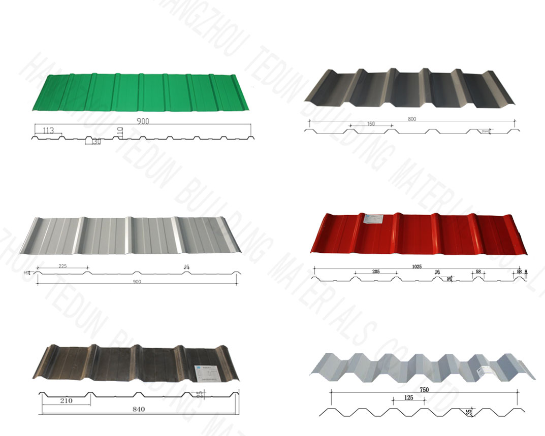 colored corrugated aluminium facade cladding